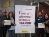 Los hospitales comarcales de Andújar y Montilla recogen el diploma que confirma haber superado la tercera fase de la acreditación IHAN
