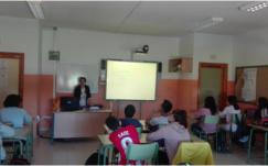 El Hospital Alto Guadalquivir imparte talleres de Educación Afectivo-Sexual a alumnos de secundaria de Marmolejo