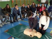 Profesionales del Hospital Sierra de Segura participan en un taller de resucitación cardiopulmonar