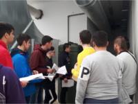 Alumnos de Electricidad de la SAFA visitan las instalaciones del Hospital de Alcalá la Real para completar su formación